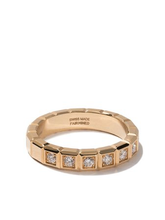 Chopard 18Kt Yellow Gold Ice Cube Diamond Ring Continuity | Farfetch.com