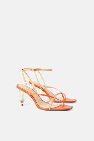 Orange shoes zara