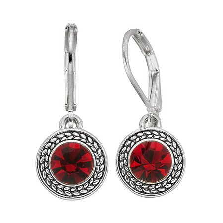 Napier Round RED Drop Earrings