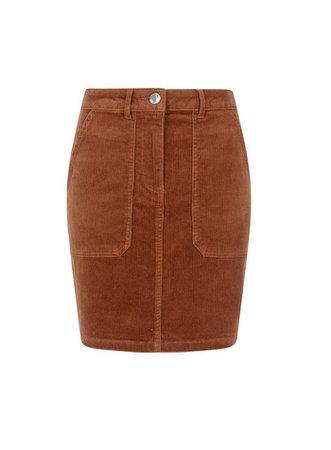 Tan Cord Mini Skirt | Dorothy Perkins