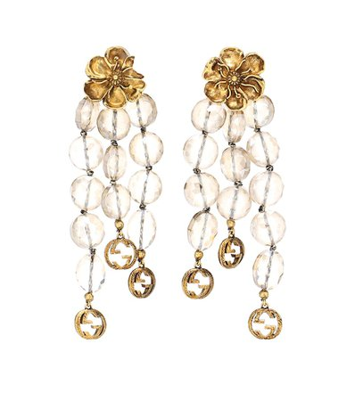 Embellished Drop Clip-On Earrings | Gucci - Mytheresa