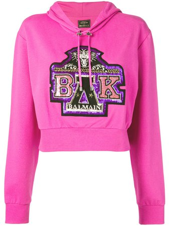 Balmain x Beyonce sequin-embellished hoodie £1,025 - Shop SS19 Online - Fast Delivery, Free Returns