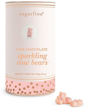 Sugarfina Sparkling Pink Chocolate Rosé Bears Canister & Reviews - Gourmet Food & Gifts - Dining - Macy's