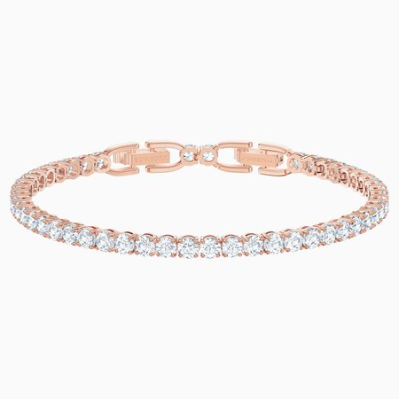swarovski rose gold tennis bracelet
