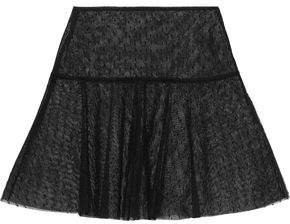 Flared Point D'esprit Mini Skirt