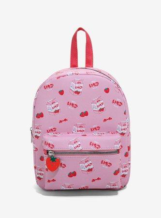 Strawberry Milk Mini Backpack