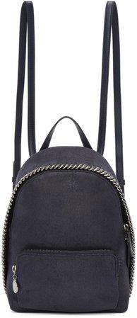 Stella McCartney Navy Mini Falebella Backpack