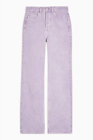 Lilac 90s Straight Jeans | Topshop