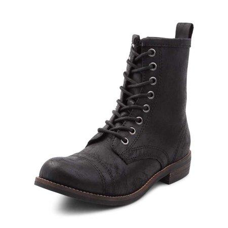 Womens Madden Girl Chandra Combat Boot - black - 132216