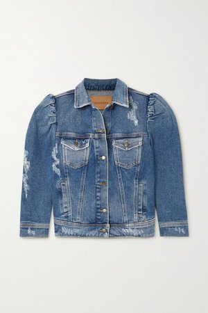 Ada Distressed Denim Jacket - Light denim