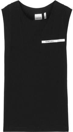 Printed Cotton-jersey Tank