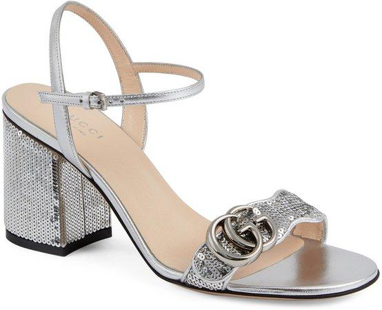 GG Sequin Sandal