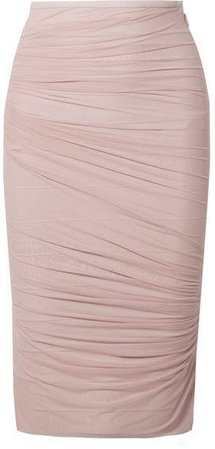 Layered Tulle And Bandage Skirt - Pastel pink