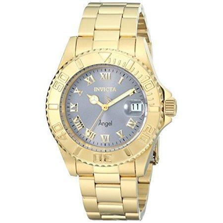 Invicta - Women's 14366 Angel Analog Display Swiss Quartz Gold Watch - Walmart.com - Walmart.com golden