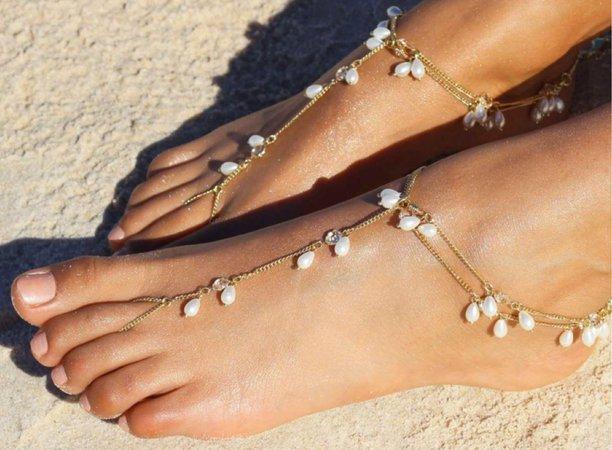 beach sandals foot sandals barefoot sandals feet sandals