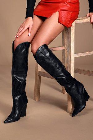Steve Madden Ranger - Black Boots - Knee-High Boots - Boots