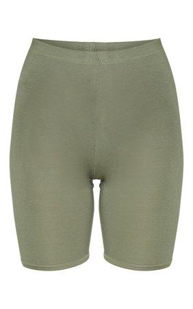 Pale Khaki Basic Bike Short   Shorts   PrettyLittleThing USA