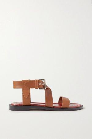 Tan Aria leather sandals   Chloé   NET-A-PORTER