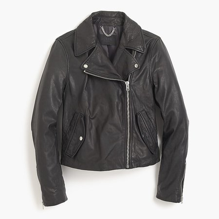 J.Crew: Collection Washed Leather Motorcycle Jacket