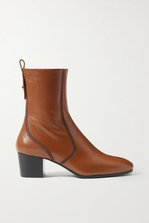 Goldee Leather Ankle Boots - Camel