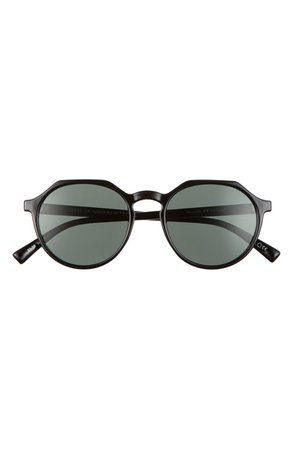 Le Specs Speed of Night 51mm Polarized Round Sunglasses | Nordstrom