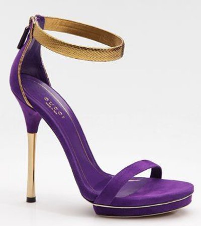 purple and gold heel