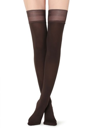 Opaque soft touch Thigh-Highs - Calzedonia
