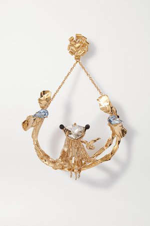 Valentino | Valentino Garavani gold-tone crystal earring | NET-A-PORTER.COM