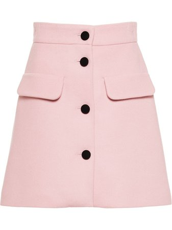 Miu Miu Double Knit A-line Skirt