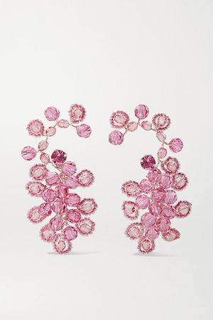 Pink Silver-tone and crystal earrings | Magda Butrym | NET-A-PORTER