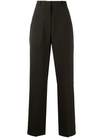 Shop 12 STOREEZ high-waisted wide trousers with Express Delivery - FARFETCH
