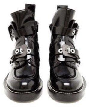 Balenciaga Ceinture Lace Ankle Boots Black