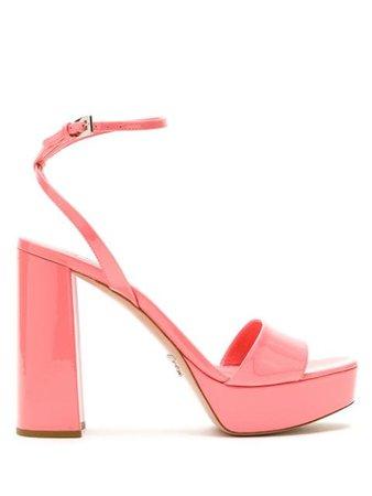 Prada 130mm platform sandals pink 1XP76AF115069 - Farfetch