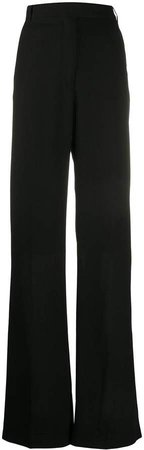 high-rise palazzo trousers