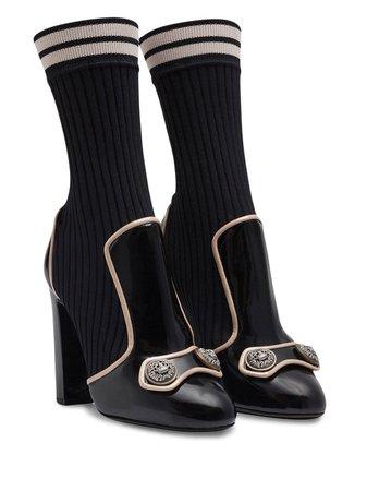 Dolce & Gabbana knit socks ankle boots black CT0623AJ853 - Farfetch
