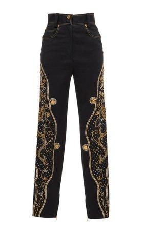 Stud Embellished Pants by Versace | Moda Operandi