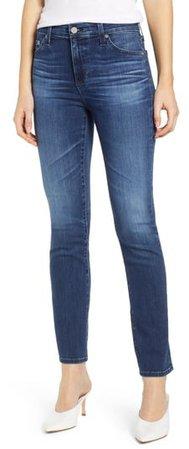 Mari High Waist Slim Straight Leg Jeans