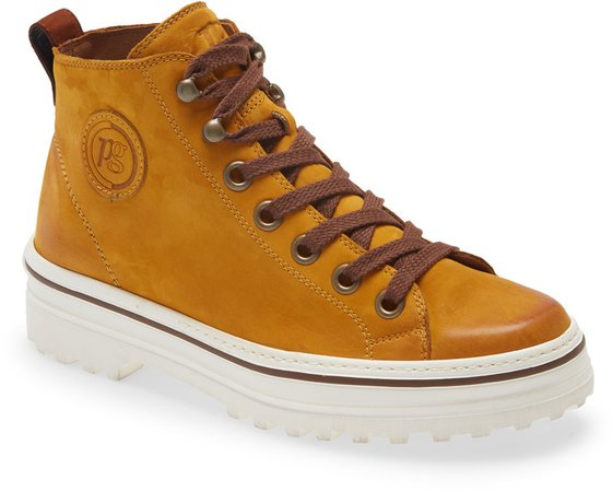 Ember Mid Top Leather Sneaker