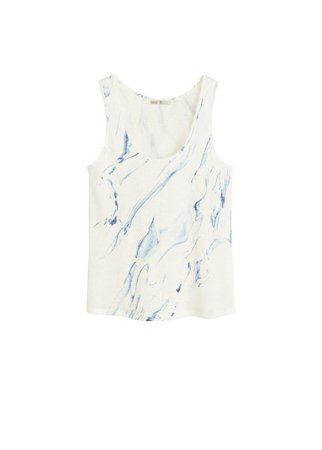 MANGO Printed strap t-shirt