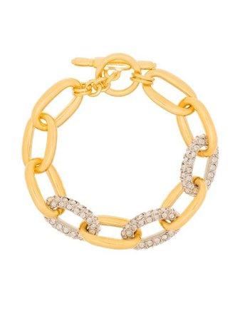 Kenneth Jay Lane crystal-embellished Chain Bracelet - Farfetch