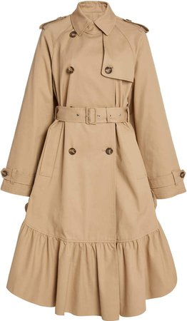 Red Valentino Belted Gabardine Trench Coat