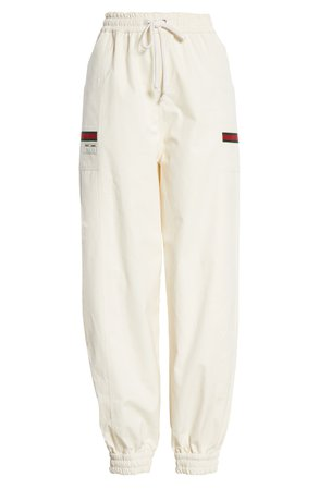 Gucci Logo Label Cotton Track Pants   Nordstrom
