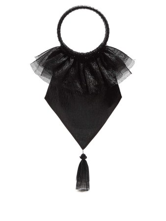 Tassel-embellished woven clutch | The Vampire's Wife | MATCHESFASHION.COM US