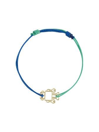 Aliita 9kt Gold Robot Cord Bracelet - Farfetch