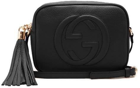 Soho Gg Small Leather Cross Body Bag - Womens - Black