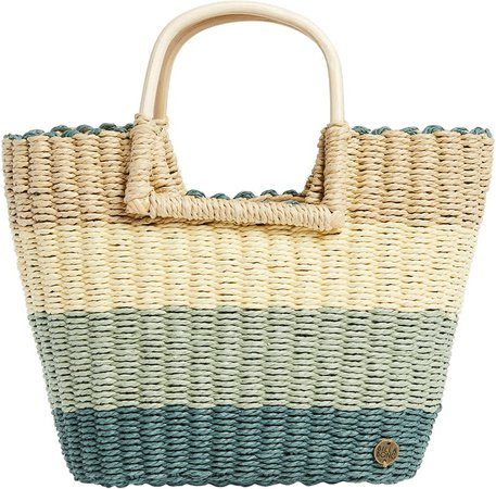 x The Salty Blonde Ride the Waves Straw Tote