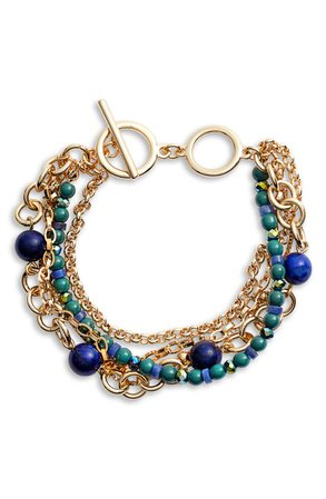 Halogen® Beaded Layered Bracelet | Nordstrom