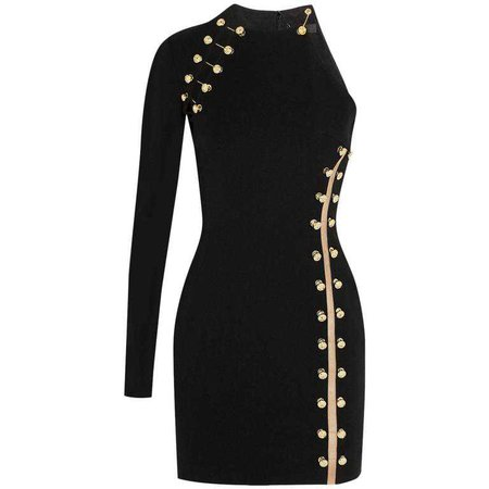 VERSUS VERSACE + Anthony Vaccarello embellished stretch mini dress at 1stdibs