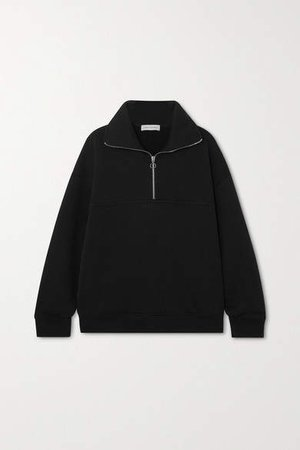 Net Sustain Organic Cotton-jersey Sweatshirt - Black