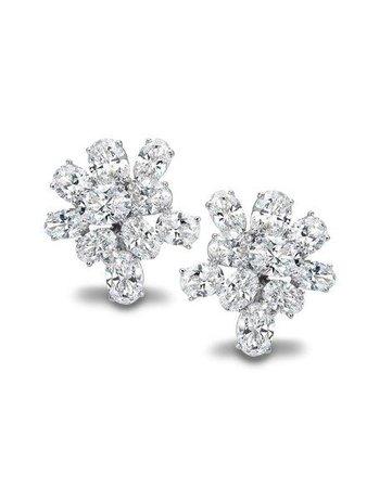 Chopard Diamond Cluster Earrings